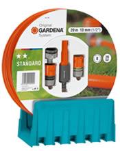Σετ λάστιχο 20 μέτρα με εξαρτήματα και κρεμάστρα Gardena (0706)