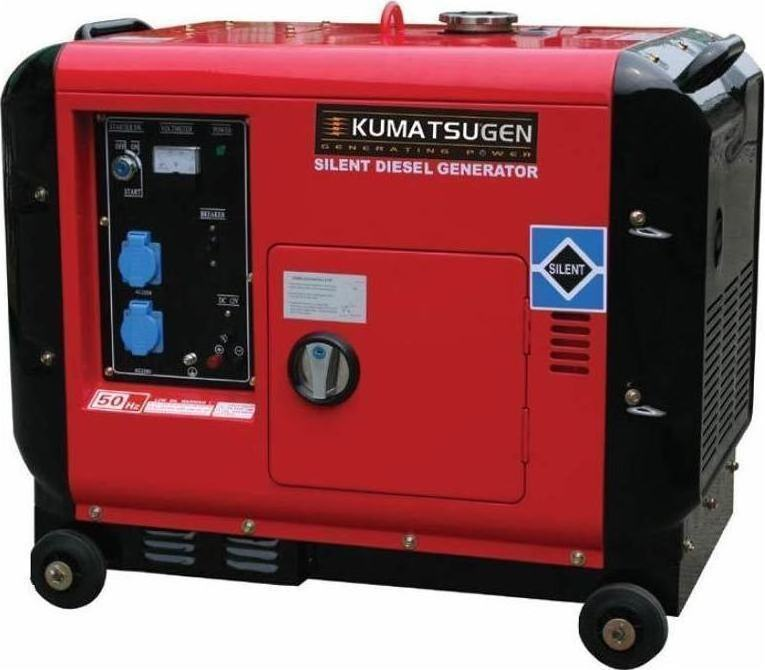 Τριφασική Γεννήτρια 6KVA (4,8KW) Πετρελαίου Κλειστού Τύπου KUMATSUGEN GP8000MAT