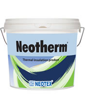 Επαλειφόμενο θερμομονωτικό υλικό νέας τεχνολογίας για ταράτσες NEOTEX Neotherm
