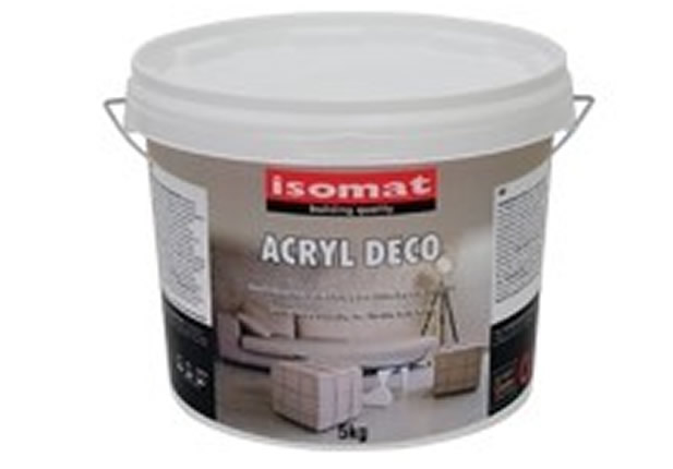 ISOMAT ACRYL DECO. 15Kg ΛΕΥΚΟ Διακοσμητική επικάλυψη για δάπεδα και τοίχους