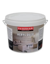 ISOMAT ACRYL DECO. 15Kg Διακοσμητική επικάλυψη για δάπεδα και τοίχους