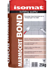 "Isomat MARMOCRET BOND Έτοιμο τσιμεντοκονίαμα για το ""πεταχτό χέρι"" του σοβά"