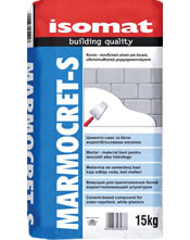 Isomat MARMOCRET-S Κονία-συνδετικό υλικό για την παρασκευή λευκών υδαταπωθητικών μαρμαροκονιαμάτων