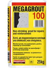 Isomat MEGAGROUT-100 Χυτό, μη συρρικνούμενο τσιμεντοκονίαμα υψηλών αντοχών, για επισκευές και ενισχύσεις