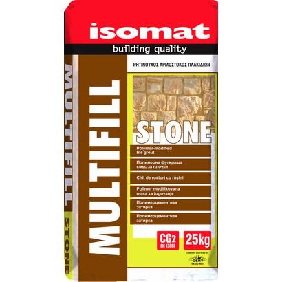 Isomat MULTIFILL STONE Έγχρωμο, ρητινούχο τσιμεντοκονίαμα για κτίσιμο και αρμολόγηση πέτρας 25Kg