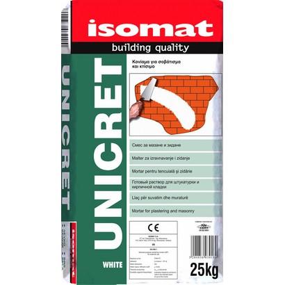 Isomat UNICRET Κονίαμα για σοβάτισμα και κτίσιμο
