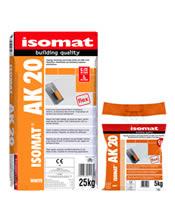 Isomat AK 20 Υψηλής ποιότητας ρητινούχα κόλλα πλακιδίων για δύσκολα υποστρώματα 25Kgr Λευκή
