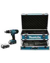 Κρουστικό Δραπανοκατσάβιδο Makita HP457DWEX4 18V (2 X 1.3Ah) με 70 Εξαρτήματα