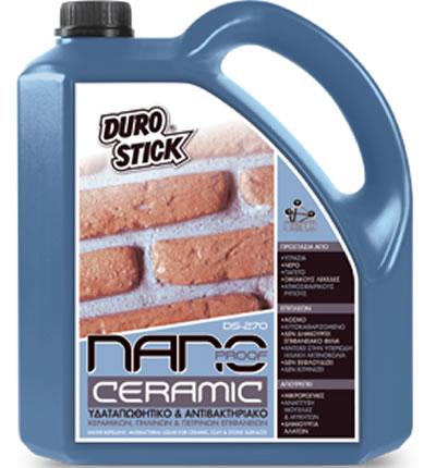 NANO PROOF CERAMIC DS-270 750ml DUROSTICK Υδαταπωθητικό σοβά-μπετόν, πήλινων και πέτρινων επιφανειών