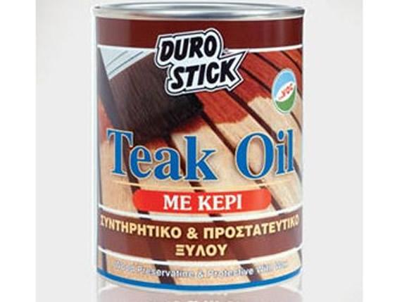 DUROSTICK TEAK OIL 750ml Συντηρητικό και προστατευτικό ξύλου με κερί