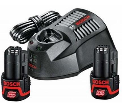 Σετ Bosch Φορτιστή AL1130 και Μπαταριών 10.8V με 2 Μπαταρίες 2.5Ah με ECP 1600A004ΖP