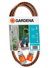 """Σετ λάστιχο σύνδεσης Gardena Flex Comfort 13mm (1/2"""") - 1,5m. με συνδέσμους (18040)"""
