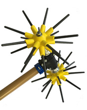 Ελαιοραβδιστικό παλμικό με 2 κεφαλές Αστέρας CF Αγγελής - 2,50mt