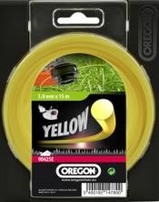 Κίτρινη κλωστή χορτοκοπτικού - 2.4 mm x 15 m RoundLine OREGON 90153E
