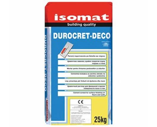 ISOMAT DUROCRET-DECO. Πατητή τσιμεντοκονία για δάπεδα και τοίχους ΛΕΥΚΟ 25kgr.