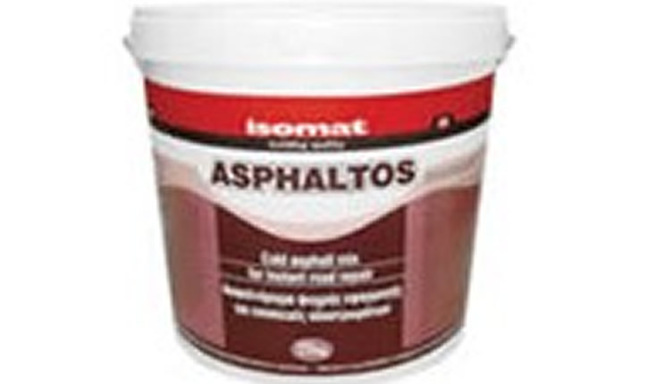 Isomat ASPHALTOS Ασφαλτόμιγμα ψυχρής εφαρμογής για επισκευές οδοστρωμάτων