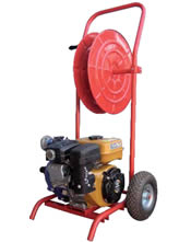 Βενζινοκίνητη αντλία Πυρόσβεσης σε Καρότσι 18000 lt/h Master RH 150D