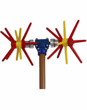 """Ελαιοραβδιστικό Ηλεκτρικό 12 V Παλμικό τύπου """"Τ"""" με δύο κεφαλές Αγγελής 2,50mt"""