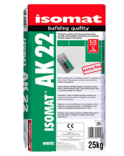 Isomat AK 22 - Εύκαμπτη, υψηλής ποιότητας ρητινούχα κόλλα πλακιδίων 5Kgr Λευκή