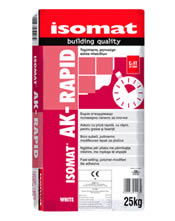 Isomat AK-RAPID 5Kg Λευκή - Ταχύπηκτη, ρητινούχα κόλλα πλακιδίων