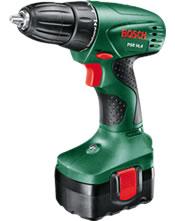 Δραπανοκατσάβιδο μπαταρίας Bosch PSR 14,4 μίας ταχύτητας με 2 μπαταρίες 0603955401