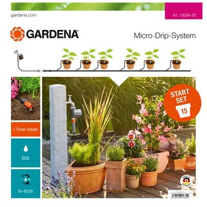 Σετ ποτίσματος Micro-Drip με Προγραμματιστή Gardena 13004