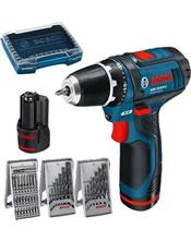 Δραπανοκατσάβιδο μπαταρίας GSR 10,8-2-LI Professional και 39 εξαρτήματα σε i-Boxx 0615990GD9