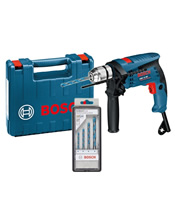 Δράπανοκατσαβιδο κρουστικό Bosch GSB 13 RE με εξαρτήματα και πλαστική θήκη Professional (0601217103)